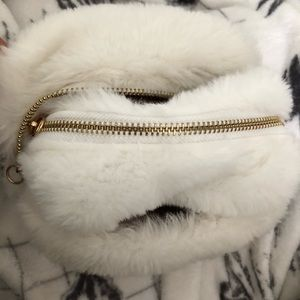 Handbags - Set of 2 Fluffy zip bags NWOT